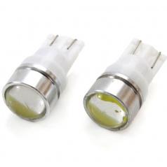 Žárovka LED 1,5W T10 12V  bílá s optickou čočkou 2 ks