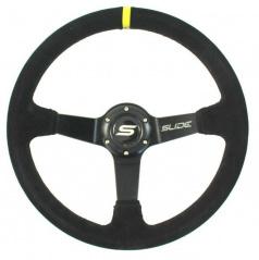 Sportovní volant WRC černý semiš YELLOW STRIP 350 mm
