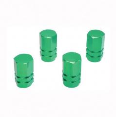 Čepičky na ventilky zelené 4ks