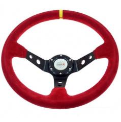 Sportovní volant WRC Rally II červený 350 mm