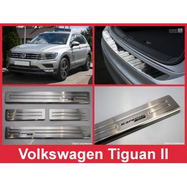 Nerez kryt- sestava-ochrana prahu zadního nárazníku+ochranné lišty prahu dveří VW Tiguan II 2016+
