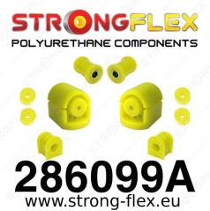 Nissan 100NX StrongFlex Sport sestava silentbloků jen pro přední nápravu 7 ks