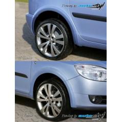 Lemy blatníků - hladký povrch pro lak Škoda Fabia II kombi