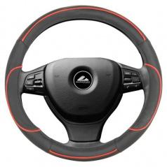 Potah na volant - černá s červenou linkou M