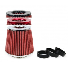 Sportovní vzduchový filtr různé barvy s adaptéry 76 - 70 - 65 - 60 - 55 mm