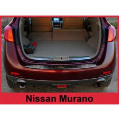 Nerez kryt- černá ochrana prahu zadního nárazníku Nissan Murano Z51 2008-16