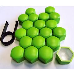 Kryty šroubů 20 ks zelené (vnitřní průměr 17 mm)