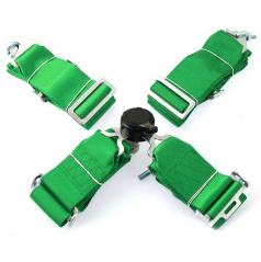 4-bodový bezpečnostní pás 75 mm zelený