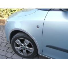 Lemy blatníků, ABS stříbrný matný, Škoda Fabia II Limousine