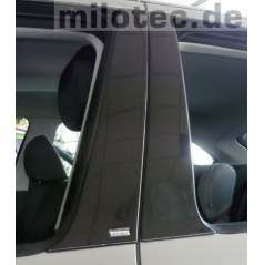 Kryty dveřních sloupků - ABS černá metalíza, Škoda Fabia I Combi