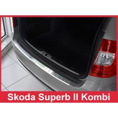 Nerez kryt- ochrana prahu zadního nárazníku Škoda Superb II kombi 2013-15