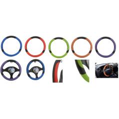 Potahy volantu COLOR LINE modrý, červený, zelený, oranžový, fialový