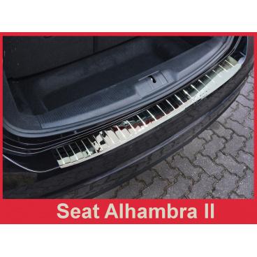 Nerez kryt- ochrana prahu zadního nárazníku Seat Alhambra II 2010+