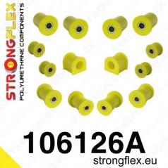 Mazda MX5 1989-98 StrongFlex Sport sestava silentbloků jen pro přední nápravu 14 ks