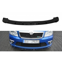 Spoiler pod přední nárazník ver.1 pro Škoda Octavia RS Facelift Mk2 Facelift, Maxton Design (černý lesklý plast ABS)