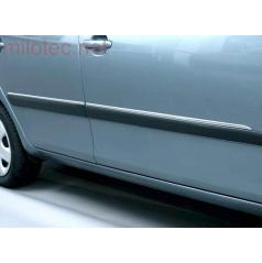 Boční ozdobné lišty, ušlechtilá ocel, Škoda Roomster