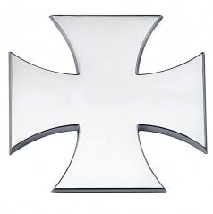 Znak MALTÉZKÝ KŘÍŽ - chrom provedení s podlepením