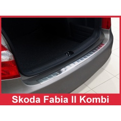 Nerez kryt- ochrana prahu zadního nárazníku Škoda Fabia II kombi 2007-16