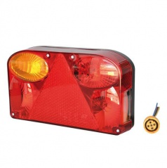 Združená lampa pre univerzálne použitie s trojuholníkovou odrazkou a hmlovým svetlom