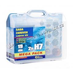 Žárovky náhradní 12V servisní box Mega H7+H7+pojistky