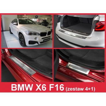 Nerez kryt- sestava-ochrana prahu zadního nárazníku+ochranné lišty prahu dveří BMW X6 F16 2014-16