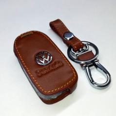 Kožená klíčenka pro vystřelovací klíče koncernových aut  VW