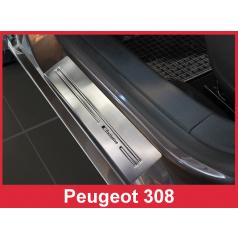 Nerez ochranné lišty prahu dveří 4ks Peugeot 308 2 2013-17