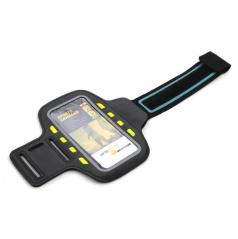 Elegantní reflexní držák smartphonu na paži 8 LED černý