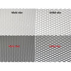 Alu mřížky Tahokov 100x25 cm, malé nebo velké oka, různé barvy