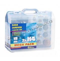 Žárovky náhradní 12V servisní box Mega H4+H4+pojistky