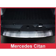 Nerez kryt-ochrana prahu zadního nárazníku Mercedes Citan 2012+