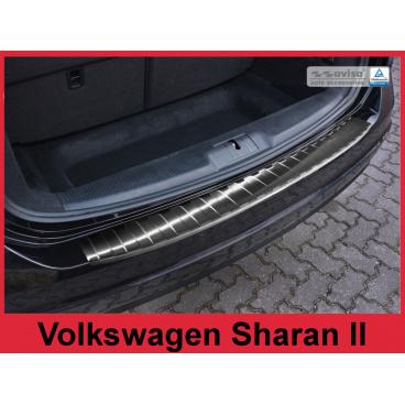 Nerez kryt- černá ochrana prahu zadního nárazníku Volkswagen Sharan II 2010+
