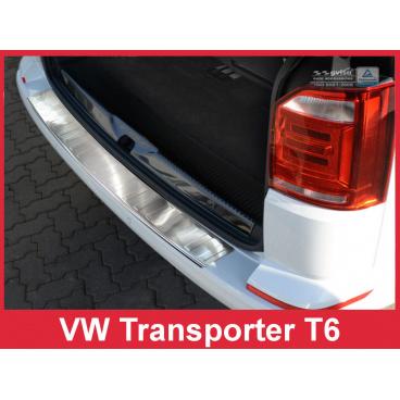 Nerez kryt- ochrana prahu zadního nárazníku Volkswagen Transporter T6 2015-16