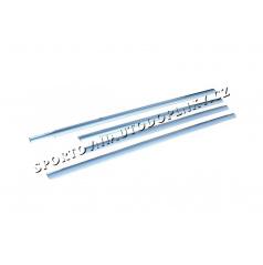Ford Fusion 03-09 - nerez chrom spodní lišty oken - OMSA LINE