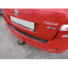 Práh pátých dveří s výstupky, ABS-černá metalíza Škoda Fabia II Combi