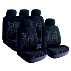 Sportovní potahy sedadel tmavě  šedé 8-dílná sada