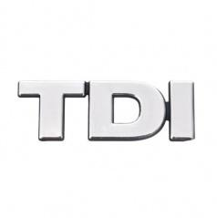 Chrom samolepící logo TDI