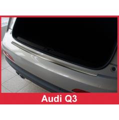 Nerez kryt- ochrana prahu zadního nárazníku Audi Q3 2011-16