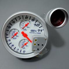 Přídavný  nastavitelný otáčkoměr Race Sport 125 mm 0-11000 RPM 4v1
