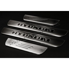 Hyundai Getz - NEREZ chrom prahové lišty - OMSA LINE