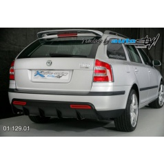 Škoda Octavia II Difuzor zadního nárazníku - combi - černý desén