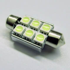 Žárovka 6 LED SMD  sulfit 42 mm  bílé 12V CAN-BUS - 1 ks