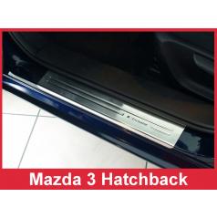 Nerez ochranné lišty prahu dveří 4ks Mazda 3 Htb. 2013-17