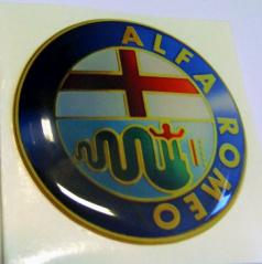 Znak Alfa Romeo průměr 55 mm, 4 ks