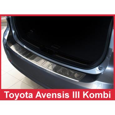 Nerez kryt- ochrana prahu zadního nárazníku Toyota Avensis III Mk kombi 2009-15