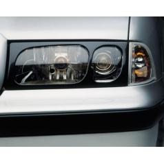 Kryty světlometů Milotec (masky) - ABS karbon, Škoda Octavia I