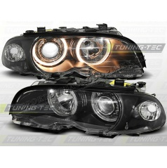 bmw e46 99-01 angel eyes BLACK (LPBM34) - coupe / cabrio