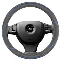 Potah na volant - černá s modrou linkou M