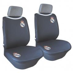 Univerzální autopotahy na přední sedadla s logem Realu Madrid černé