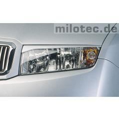 Kryty světlometů Milotec (mračítka)  ABS černé, Škoda Fabia I